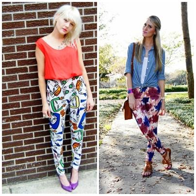 printed pants 1