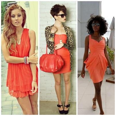 Coral Short Dress