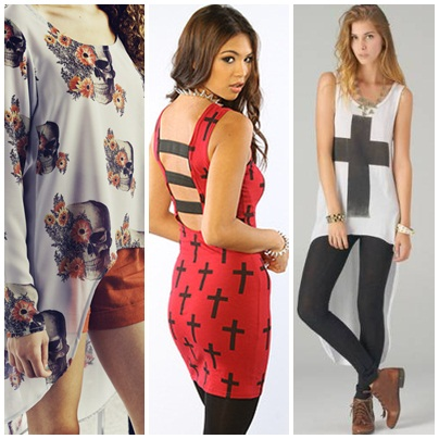 skulls and crosses clothing