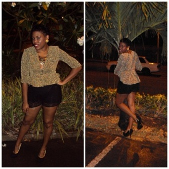 peplum-top-lace-shorts-heels