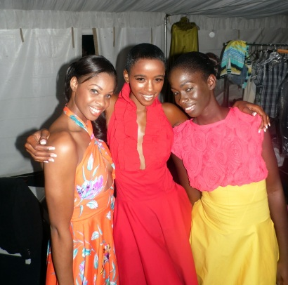 Danielle, Shanni, and other model in Kimystic Designs bbfw 2013
